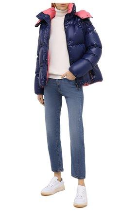 Женский пуховая куртка MONCLER темно-синего цвета, арт. F2-093-1A51N-00-C0067 | Фото 2