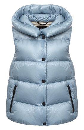 Женский пуховый жилет MONCLER голубого цвета, арт. F2-098-1A507-00-539YL | Фото 1