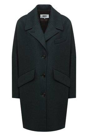Женское шерстяное пальто MM6 темно-зеленого цвета, арт. S32AA0190/S52207 | Фото 1