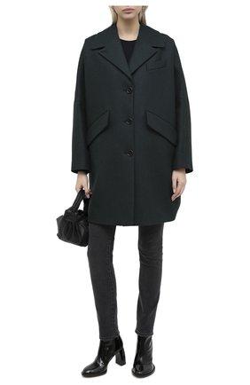 Женское шерстяное пальто MM6 темно-зеленого цвета, арт. S32AA0190/S52207 | Фото 2