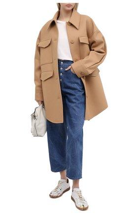 Женское шерстяное пальто MM6 коричневого цвета, арт. S32AM0339/S52207 | Фото 2