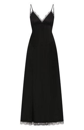 Женское платье из хлопка и вискозы MM6 черного цвета, арт. S32CU0144/S53257 | Фото 1