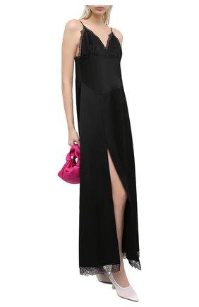 Женское платье из хлопка и вискозы MM6 черного цвета, арт. S32CU0144/S53257 | Фото 2