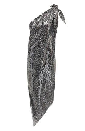 Женское платье с пайетками MM6 серебряного цвета, арт. S32CU0169/S23734   Фото 1