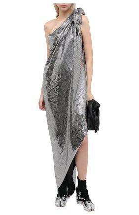 Женское платье с пайетками MM6 серебряного цвета, арт. S32CU0169/S23734   Фото 2
