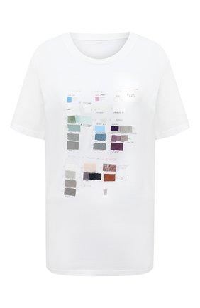 Женская хлопковая футболка MM6 белого цвета, арт. S32GC0579/S23588 | Фото 1