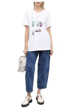 Женская хлопковая футболка MM6 белого цвета, арт. S32GC0579/S23588 | Фото 2