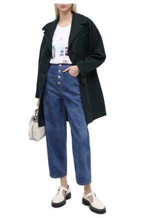 Женские джинсы MM6 синего цвета, арт. S32LA0226/S30460 | Фото 2