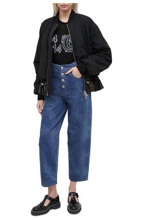 Женская футболка MM6 черного цвета, арт. S52GC0162/S23683 | Фото 2
