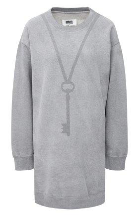 Женская хлопковый свитшот MM6 серого цвета, арт. S52GU0118/S25337 | Фото 1