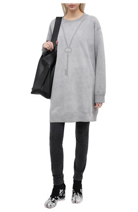 Женская хлопковый свитшот MM6 серого цвета, арт. S52GU0118/S25337 | Фото 2
