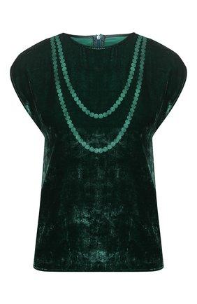 Женский топ из вискозы и шелка MM6 зеленого цвета, арт. S52NC0233/S53086 | Фото 1