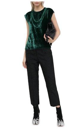 Женская топ из вискозы и шелка MM6 зеленого цвета, арт. S52NC0233/S53086 | Фото 2