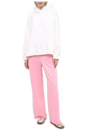 Женские хлопковые брюки MM6 розового цвета, арт. S62KB0059/S25409 | Фото 2