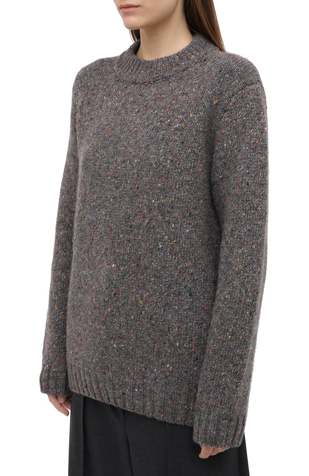 Женский кашемировый свитер GABRIELA HEARST серого цвета, арт. 120957 A009 | Фото 3