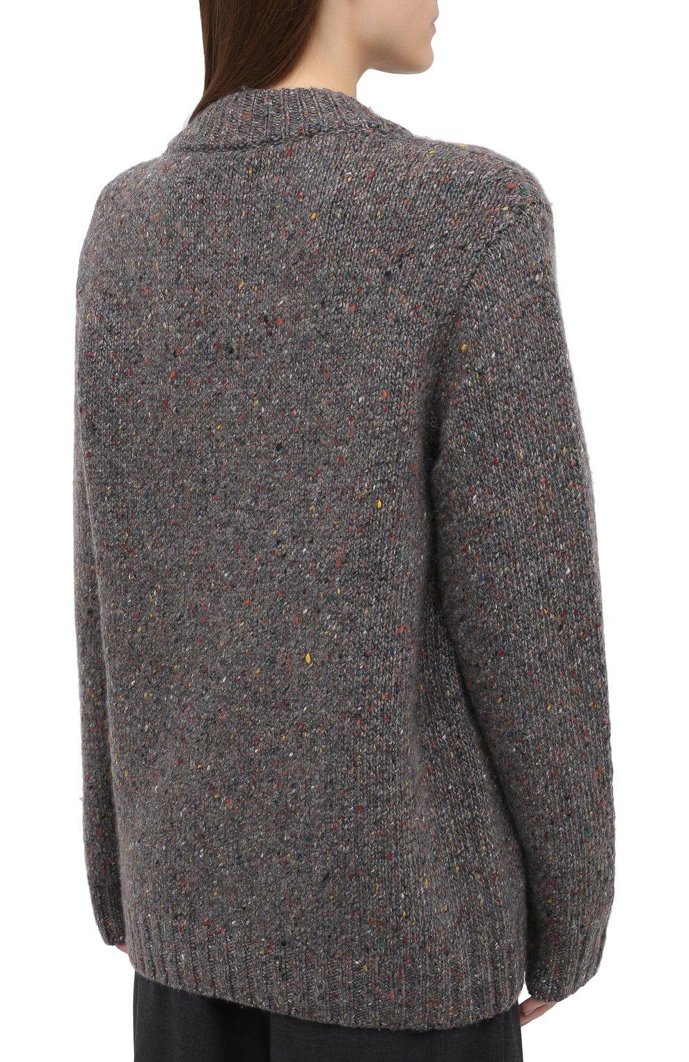 Женский кашемировый свитер GABRIELA HEARST серого цвета, арт. 120957 A009 | Фото 4