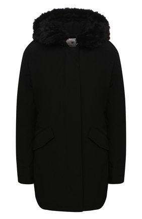 Женская пуховая парка WOOLRICH черного цвета, арт. CFWW0U0374FR/UT0001 | Фото 1