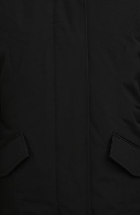 Женская пуховая парка WOOLRICH черного цвета, арт. CFWW0U0374FR/UT0001 | Фото 5 (Кросс-КТ: Куртка; Рукава: Длинные; Материал внешний: Синтетический материал, Хлопок; Стили: Классический, Кэжуэл; Материал подклада: Синтетический материал)