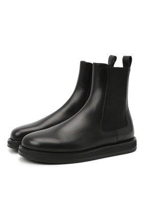 Женские кожаные ботинки gaia THE ROW черного цвета, арт. F1151-L52 | Фото 1