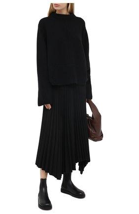 Женские кожаные ботинки gaia THE ROW черного цвета, арт. F1151-L52 | Фото 2