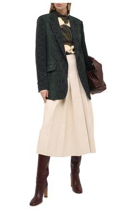 Женский шерстяной жакет DRIES VAN NOTEN зеленого цвета, арт. 202-10431-1080 | Фото 2