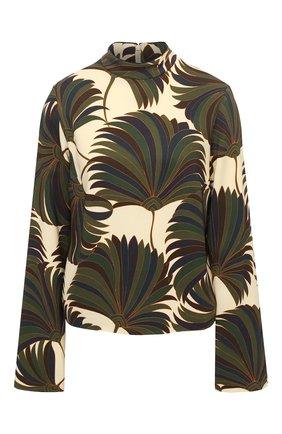 Женская блузка из вискозы DRIES VAN NOTEN зеленого цвета, арт. 202-10729-1377 | Фото 1