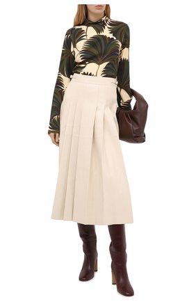 Женская блузка из вискозы DRIES VAN NOTEN зеленого цвета, арт. 202-10729-1377 | Фото 2