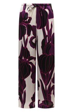 Женские шелковые брюки DRIES VAN NOTEN фуксия цвета, арт. 202-10984-1135 | Фото 1