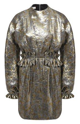 Женское платье DRIES VAN NOTEN серебряного цвета, арт. 202-11001-1347   Фото 1