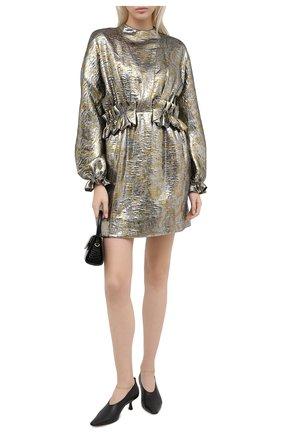 Женское платье DRIES VAN NOTEN серебряного цвета, арт. 202-11001-1347   Фото 2