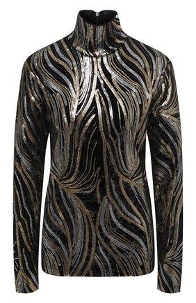 Женская водолазка с пайетками DRIES VAN NOTEN черного цвета, арт. 202-11135-1316 | Фото 1