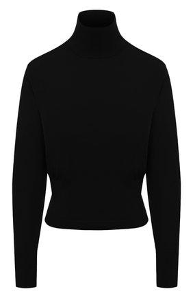 Женская шерстяная водолазка DRIES VAN NOTEN черного цвета, арт. 202-11290-1700 | Фото 1