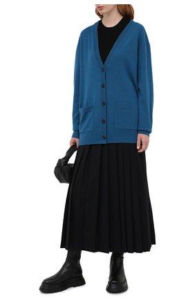 Женский кашемировый кардиган DRIES VAN NOTEN бирюзового цвета, арт. 202-11292-1702 | Фото 2