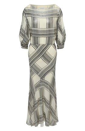 Женское платье из вискозы DRIES VAN NOTEN кремвого цвета, арт. 202-18699-1431 | Фото 1