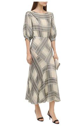 Женское платье из вискозы DRIES VAN NOTEN кремвого цвета, арт. 202-18699-1431 | Фото 2