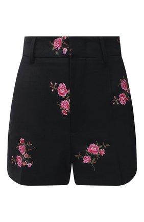 Женские шорты из шерсти и хлопка REDVALENTINO черного цвета, арт. UR0RFD30/5D4 | Фото 1