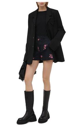 Женские шорты из шерсти и хлопка REDVALENTINO черного цвета, арт. UR0RFD30/5D4 | Фото 2