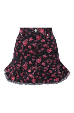 Женская джинсовая юбка REDVALENTINO черного цвета, арт. UR0DD03L/5HM | Фото 1