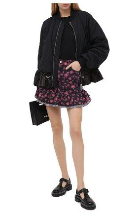 Женская джинсовая юбка REDVALENTINO черного цвета, арт. UR0DD03L/5HM | Фото 2