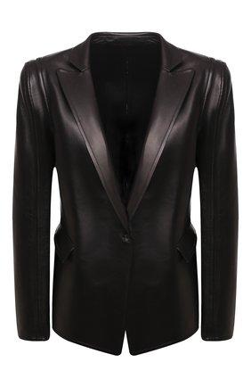 Женский кожаный жакет VALENTINO черного цвета, арт. UB0NA05W5VT | Фото 1