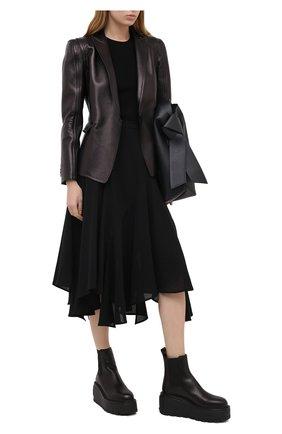Женский кожаный жакет VALENTINO черного цвета, арт. UB0NA05W5VT | Фото 2