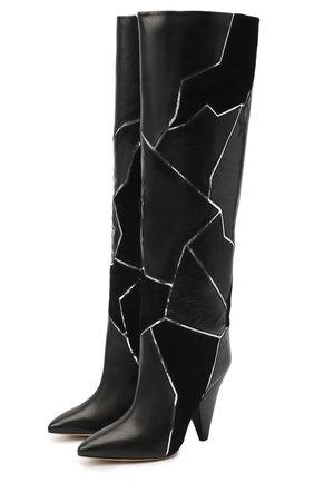 Женские кожаные сапоги lytica ISABEL MARANT черного цвета, арт. LYTICA/BT0162-20H011S | Фото 1