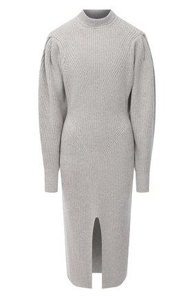 Женское платье из кашемира и шерсти ISABEL MARANT светло-серого цвета, арт. R01846-20H003I/PERRINE | Фото 1