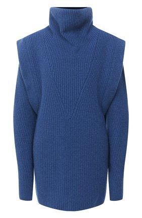 Женское платье из кашемира и шерсти ISABEL MARANT синего цвета, арт. R01841-20H003I/PREWITT | Фото 1