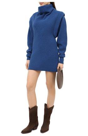Женское платье из кашемира и шерсти ISABEL MARANT синего цвета, арт. R01841-20H003I/PREWITT | Фото 2