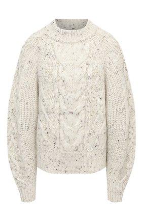 Женский шерстяной свитер ISABEL MARANT бежевого цвета, арт. PU1481-20H007I/FL0VER | Фото 1