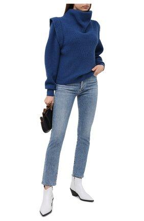 Женский свитер из кашемира и шерсти ISABEL MARANT синего цвета, арт. PU1471-20H003I/P0PPY | Фото 2
