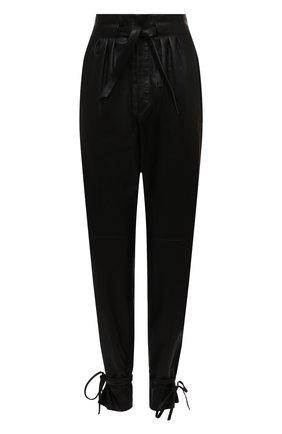 Женские кожаные брюки ISABEL MARANT черного цвета, арт. PA1789-20H056I/DUARD0 | Фото 1