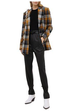 Женские кожаные брюки ISABEL MARANT черного цвета, арт. PA1789-20H056I/DUARD0 | Фото 2