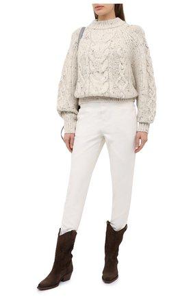 Женские джинсы ISABEL MARANT белого цвета, арт. PA1759-20H029I/NADEL0ISA   Фото 2